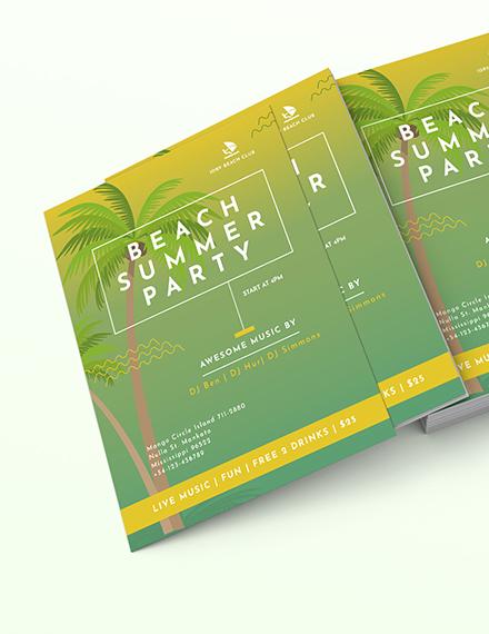 Beach Flyer Download
