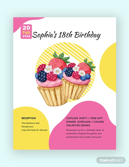 birthday flyer 440x570