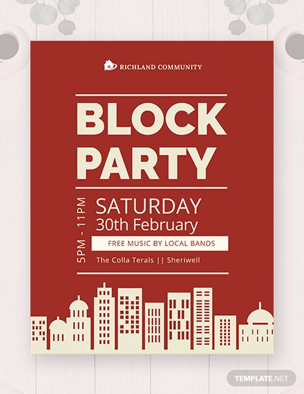 block party flyer 440x570