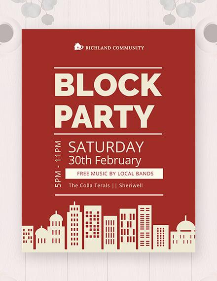 block party flyer 440x570