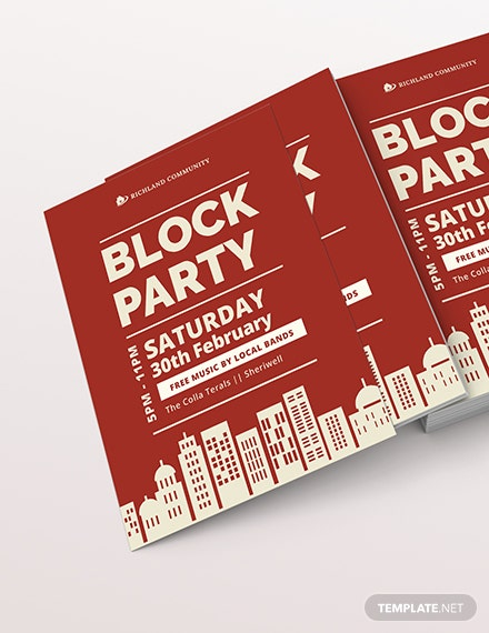 Block Party Flyer Download