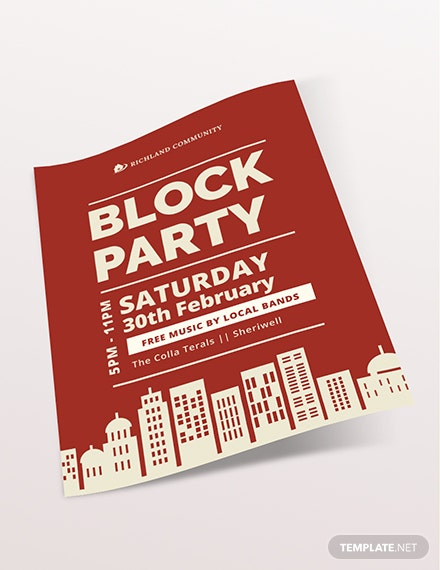 Sample Block Party Flyer