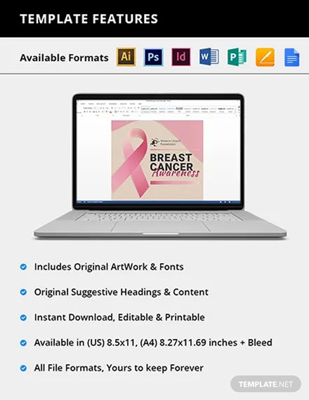 Editable Breast Cancer Flyer