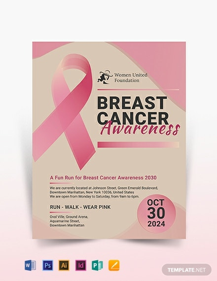 breast cancer flyer template 440x570 1