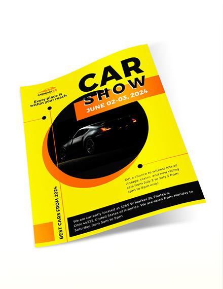 Car Show Flyer Download