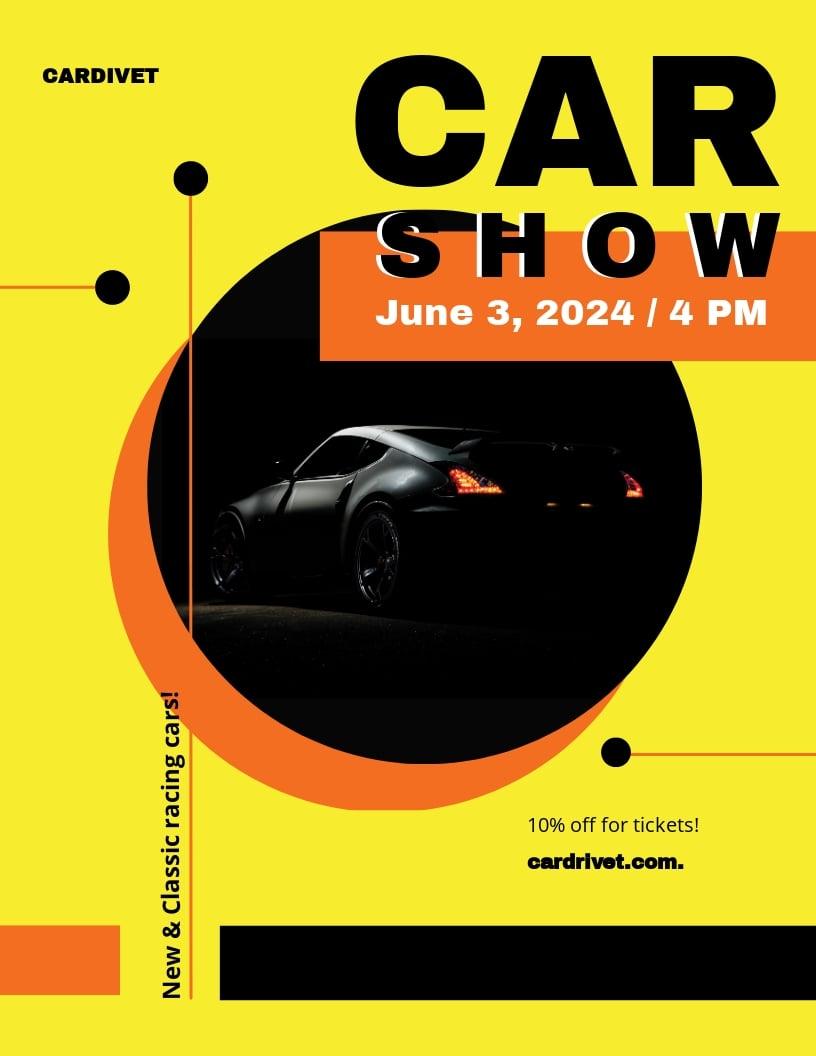 Car Show Flyer Template.jpe