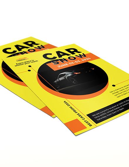 Sample Car Show Flyer