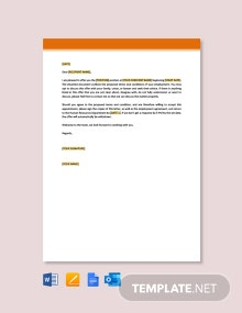 Free Job Appointment Letter Template