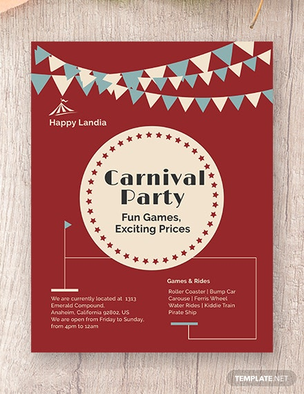 Carnival Flyer Template | Carnival Flyer Template In Adobe Photoshop Illustrator Indesign