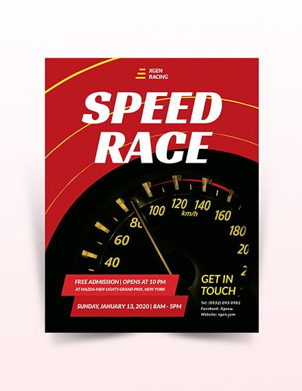Racing Flyer Template
