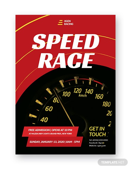 racing flyer template in psd illustrator word indesign publisher
