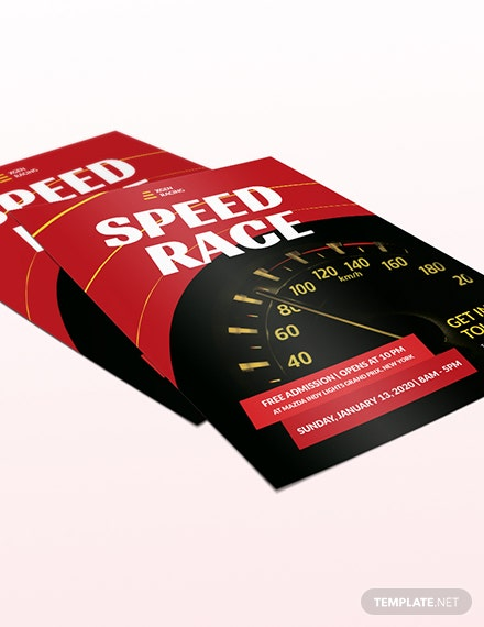 Sample Racing Flyer