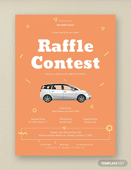 raffle flyer template in psd illustrator word indesign publisher