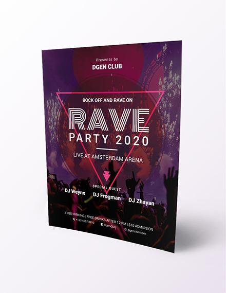 Rave flyer Download