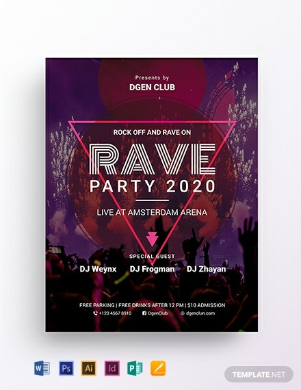Rave flyer Template