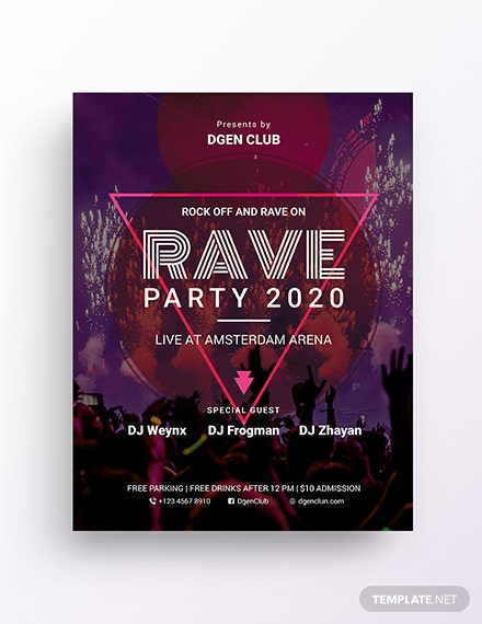 rave flyer template  download 187  flyers in microsoft