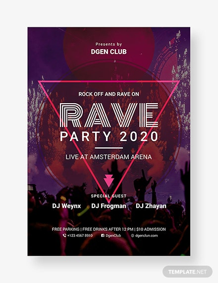 37 free party flyer templates download ready made template net