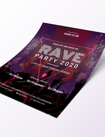 Sample Rave flyer