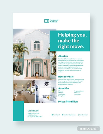 real estate marketing flyer template 1x 1