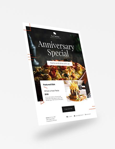 Sample Restaurant Flyer
