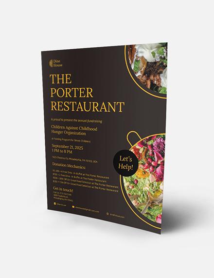 Restaurant Fundraising Flyer Download