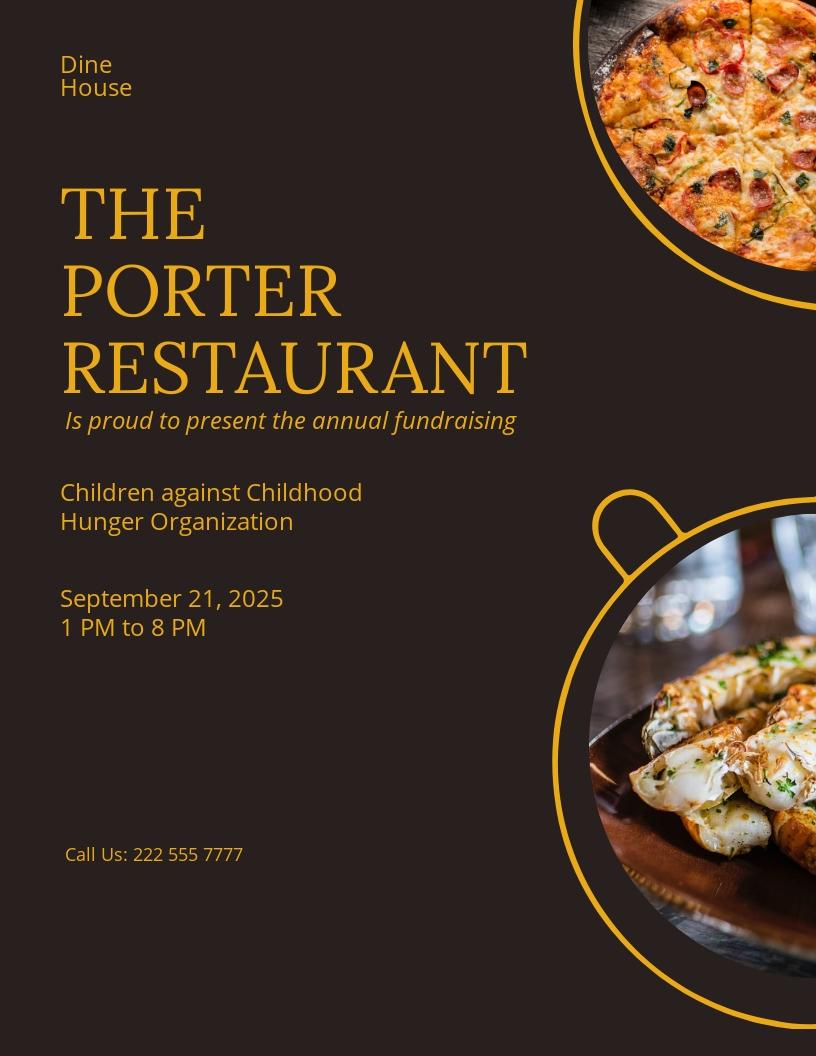 Restaurant Fundraising Flyer Template.jpe