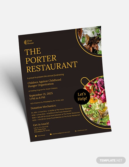 Sample Restaurant Fundraising Flyer