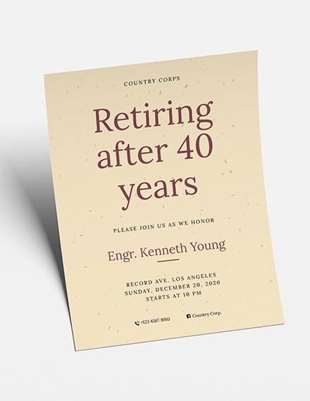 Retirement Flyer Download
