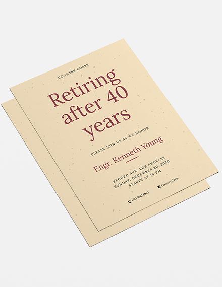 Sample Retirement Flyer
