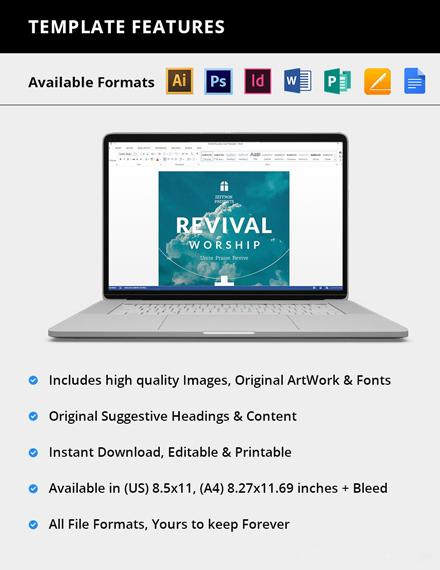 Editable Revival Flyer