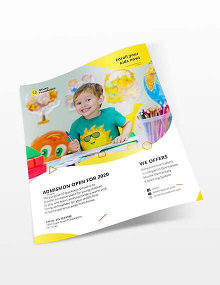 School Flyer Download