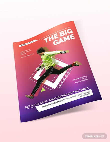 Sample Sports Event Flyer