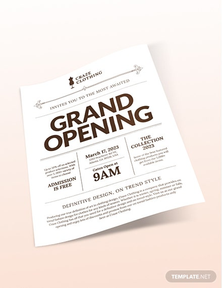 Store Opening Flyer Download