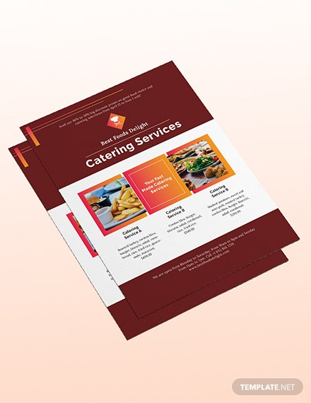 Sample Catering Flyer