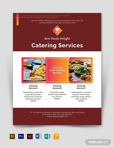catering flyer template download 78 flyers in microsoft word