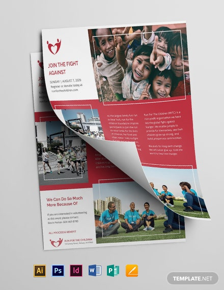 charity flyer template editable