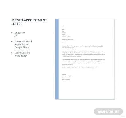Free Missed Appointment Letter Template