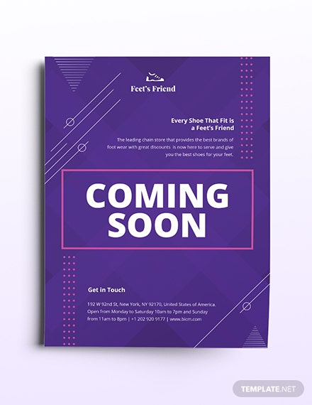 Coming Soon Flyer Template