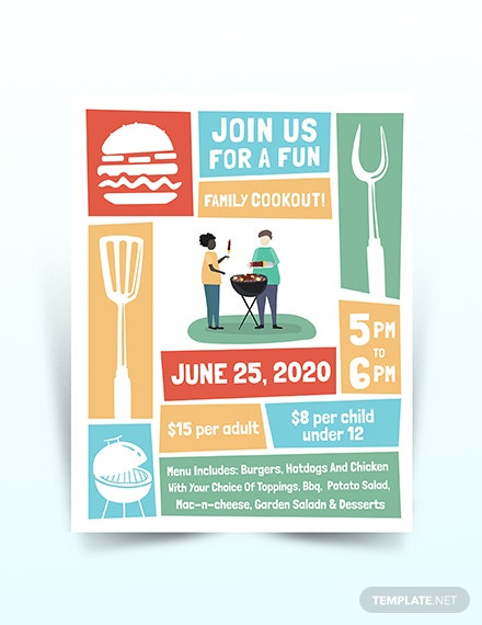 Cookout Flyer Template