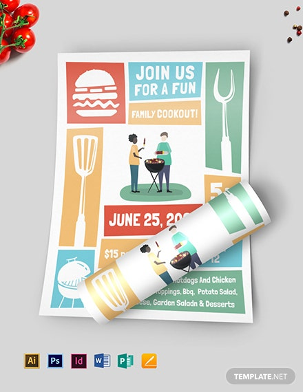 cookout flyer template download 78 flyers in microsoft word