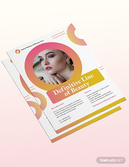 Sample Cosmetic Flyer
