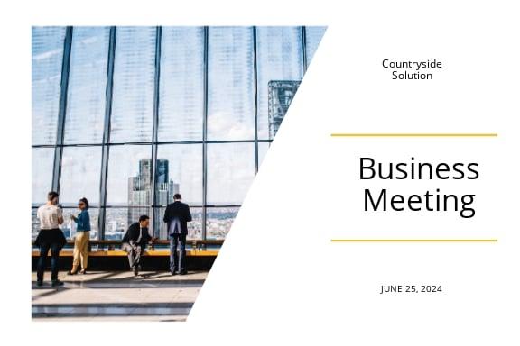 Business Event Postcard Template