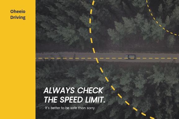 Free Driving School Postcard Template