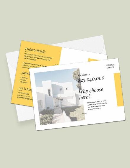 Free Real Estate Postcard Template