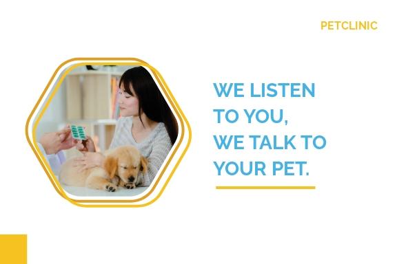 Pet Clinic Postcard Template