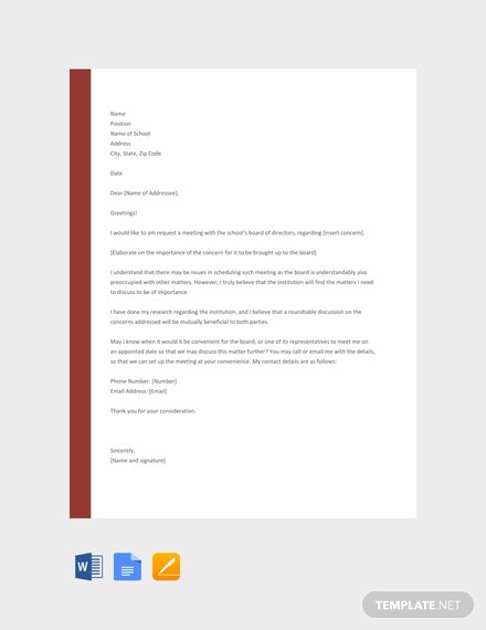 Free School Appointment Letter Template