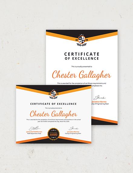 Academic Certificate Template