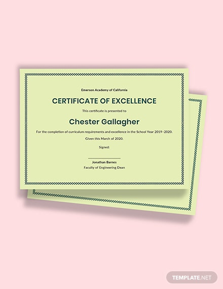 Academic Certificate Template