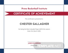Creative Baseball Award Certificate Template