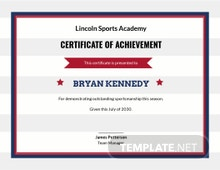 Simple Baseball Award Certificate Template